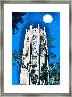 Bok Singing Tower Under The Moon Framed Print
