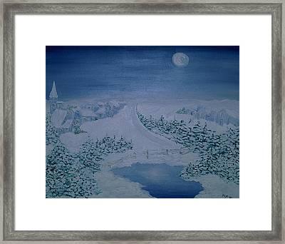 Moonlight Over Kitzbuehel Framed Print