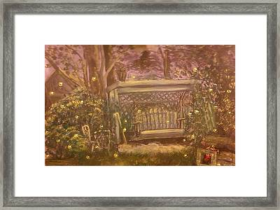 Moonlight Over Meshoppen Framed Print