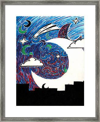 Moonlight Over The Desert Framed Print by Max Antinone