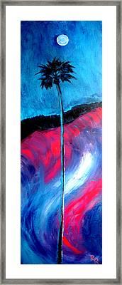 Moonlight Palm Original Art Print By Robert R Framed Print by Robert R Splashy Art Abstract Paintings