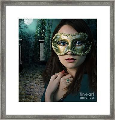 Moonlight Rendezvous Framed Print by Linda Lees