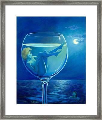 Moonlight Rendezvous Framed Print