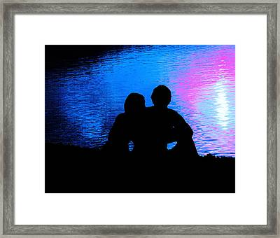 Moonlight Romance Framed Print by Mike Flynn