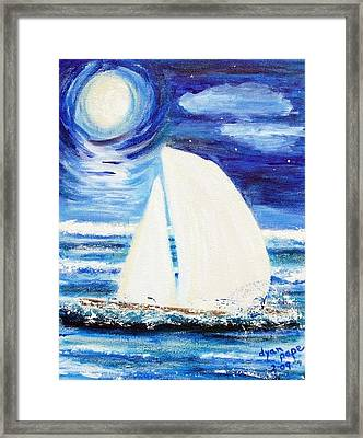 Moonlight Sail Framed Print by Diane Pape