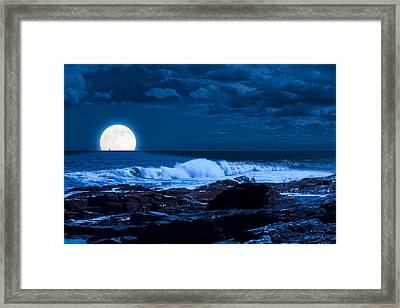 Moonlight Sail Framed Print by Fred Larson