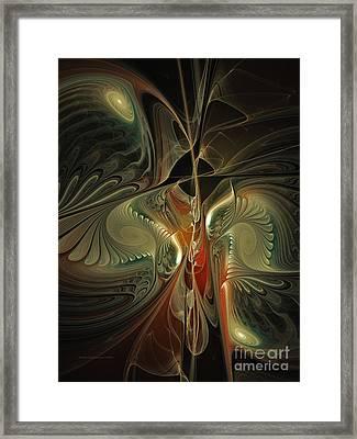 Moonlight Serenade Fractal Art Framed Print