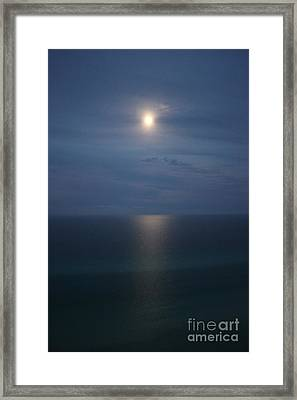 Moonlight Serenading The Waters Of Florida Framed Print by Jennifer E Doll
