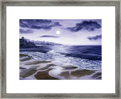 Moonlight Sonata Over Carmel Framed Print by Laura Iverson