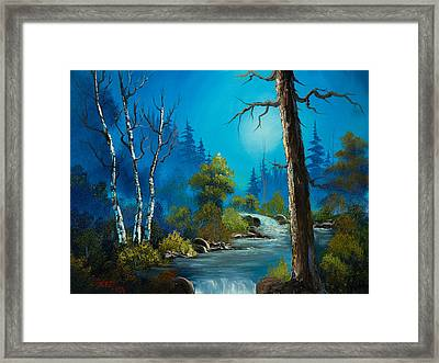 Moonlight Stream Framed Print by C Steele