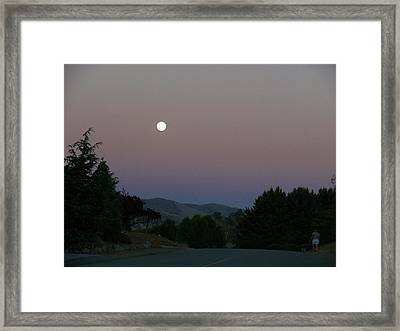 Moonlight Stroll Framed Print by Jacquelyn Roberts