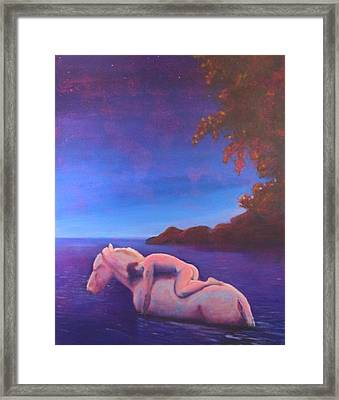 Moonlight Swim Framed Print by Craig  Bruce