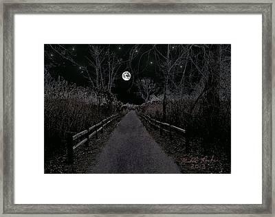 Moonlight Trail Framed Print by Michael Rucker