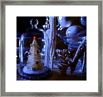 Moonlight Tree - Christmas Framed Print