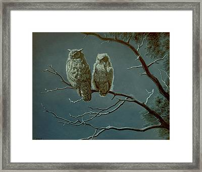 Moonlight Watchers Framed Print