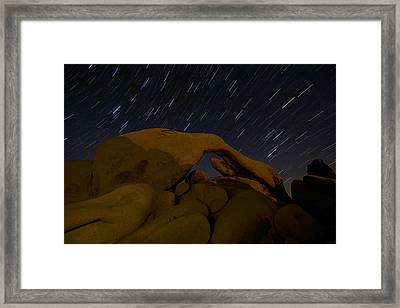Moonlit Arch Framed Print by Dustin  LeFevre