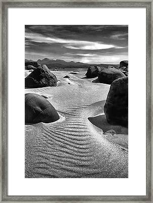 Moonlit Beach Scotland Framed Print by Jacqi Elmslie