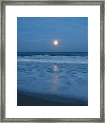 Moonlit Beach Too Framed Print by Peggy Burley