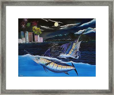 Moonlit Blue Framed Print
