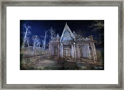 Moonlit Cape Cod Framed Print by Kylie Sabra