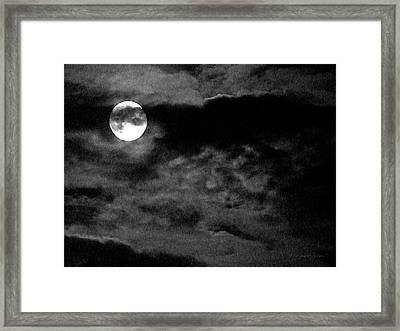 Moonlit Clouds Framed Print