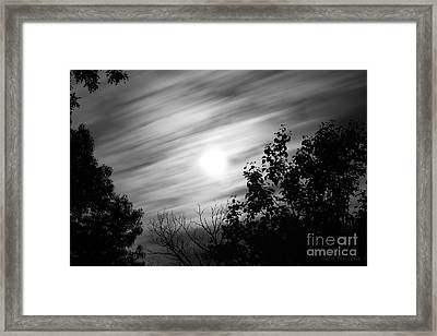 Moonlit Clouds Framed Print