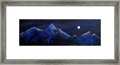 Moonlit Framed Print by Edith Peterson-Watson