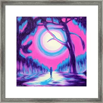 Moonlit Forest Framed Print by Casoni Ibolya