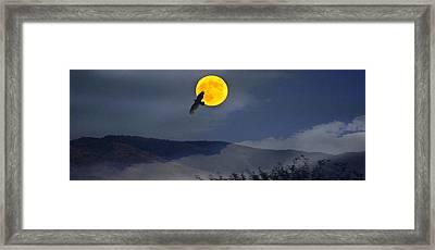 Moonlit Freedom Of Flight Framed Print