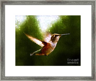 Moonlit Iridescence  Framed Print