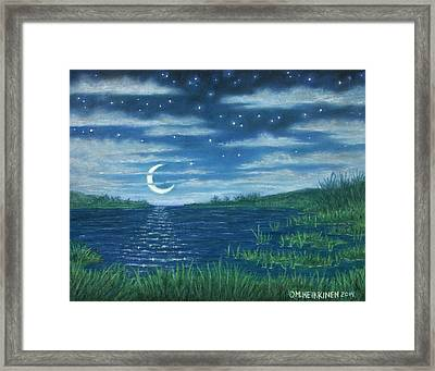 Moonlit Lagoon Framed Print
