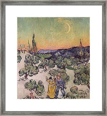 Moonlit Landscape Framed Print