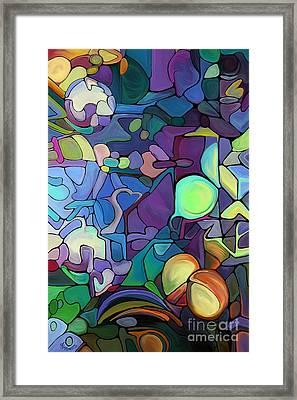 Moonlit Maze Framed Print by Dorinda K Skains