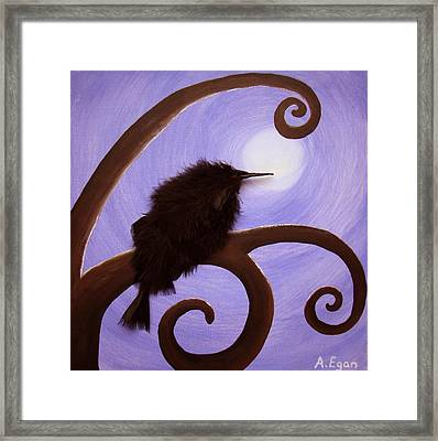 Moonlit Meditation Framed Print by Annette Egan