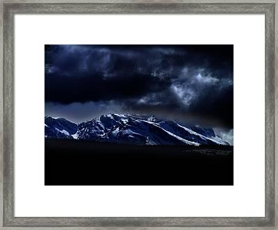 Moonlit Mountains Framed Print