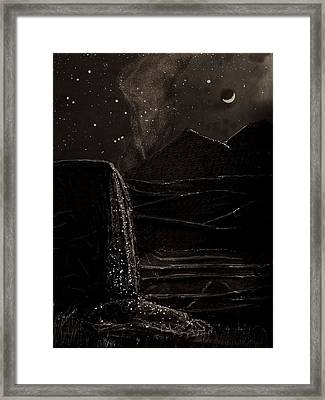 Moonlit Night Framed Print by Angela Stout