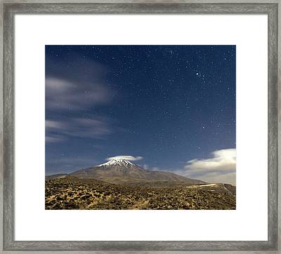 Moonlit Night At Mount Damavand Framed Print by Babak Tafreshi
