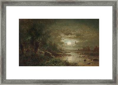 Moonlit Night March Area Framed Print
