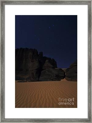 Moonlit Night Of Sahara Framed Print by Babak Tafreshi