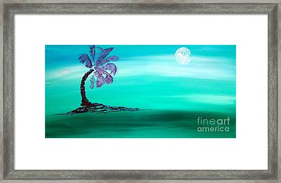Moonlit Palm Framed Print