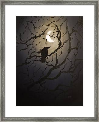 Moonlit Perch Framed Print