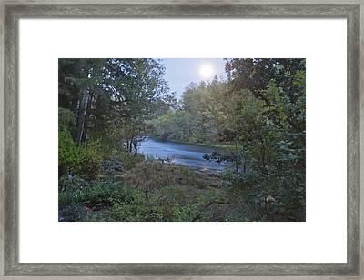 Moonlit River Framed Print by Belinda Greb