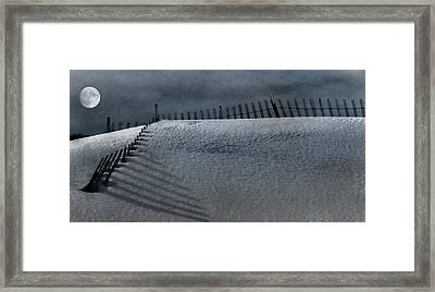 Moonlit Snow Framed Print