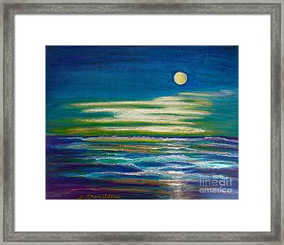 Framed Print featuring the painting Moonlit Tide by D Renee Wilson