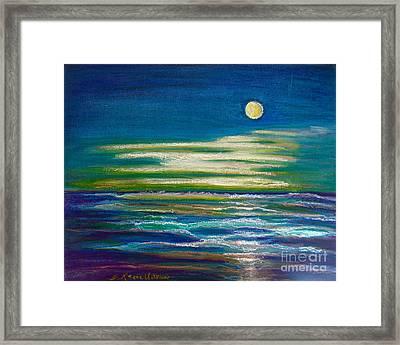 Moonlit Tide Framed Print by D Renee Wilson