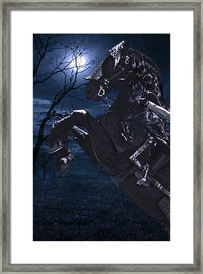 Moonlit Warrior Framed Print