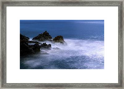 Moonlit Waves Framed Print