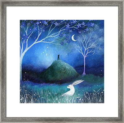 Moonlite And Hare Framed Print
