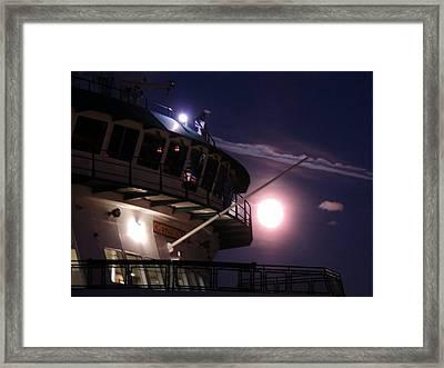 Moonlite Ferry Bridge Framed Print