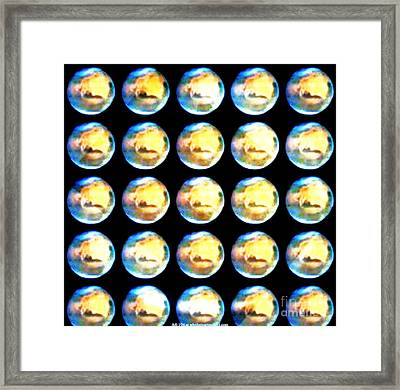 Moonmarbles Framed Print by PainterArtist FIN